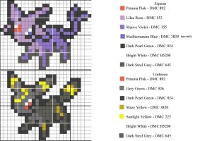 Espeon-Umbreon Pattern by xXShadowKatXx