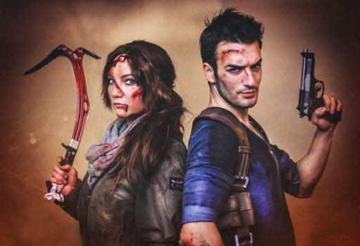 Nathan Drake and Lara Croft -Select your Character by LeonChiroCosplayArt