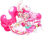 Cure Whip y Cure Yell by FFPreCureSpain
