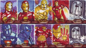 Iron Man 2 Sketchcards by KellyYates