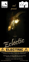 Eclectic Electric invitation flyer by CuriousObjects