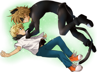 Chat Noir and Adrien by Nixhil