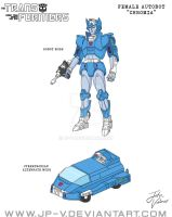 Chromia - Cartoon Animation Model Sheet by JP-V