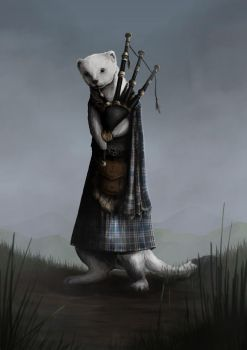 Contest Winner: Bagpipe-playing Stoat by Kimberly-SC