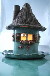 A House with a candle by archaeopteryx-stocks