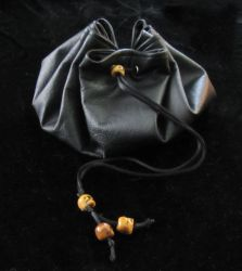 Black Leather Pouch by Canuckdesz