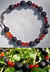 Bracelet: Lava and Agate by LissaMonster