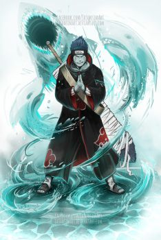 Kisame - the tailless tailed beast by JasonsimArt
