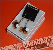 Hand Sculpted Bob-omb Earrings by Paradox-Artistry