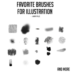 Favorite Illustration Brushes .ABR by julheta