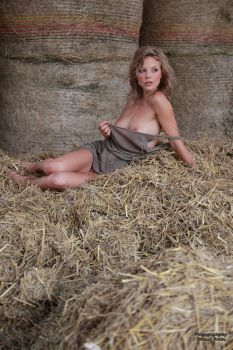 With Anna in the hay  10 by PhotographyThomasKru