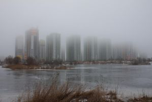Fog in the city 9 by ManicHysteriaStock