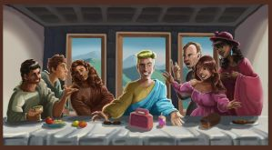 Saved by the Bell - Last Supper by LucasZebroski