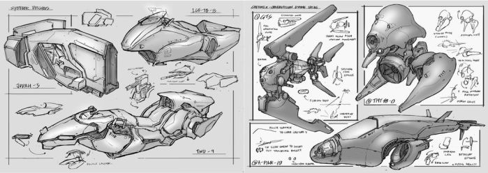 Mech Sketches by METAPHOR9
