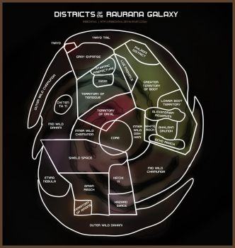 Map- Raurana galaxy districts by Ribbontail