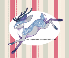 CLOSED | winter jackalope adopt by gold-adopts