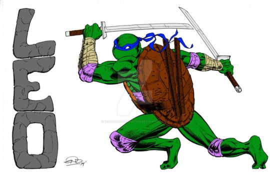 Leonardo by Eric D. Ninaltowski (Colored) by TheComicBookMaster