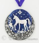 I Believe in Unicorns Polymer Clay Art Pendant by DeidreDreams