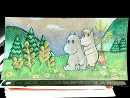 Moomins in the Valley by Paya-Art