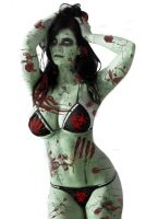 Zombie Pinup by UndergroundTattoos