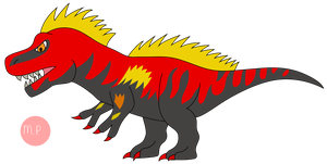 Fossil Fighters Frontier #4 T-Rex Sue by DinoLover09
