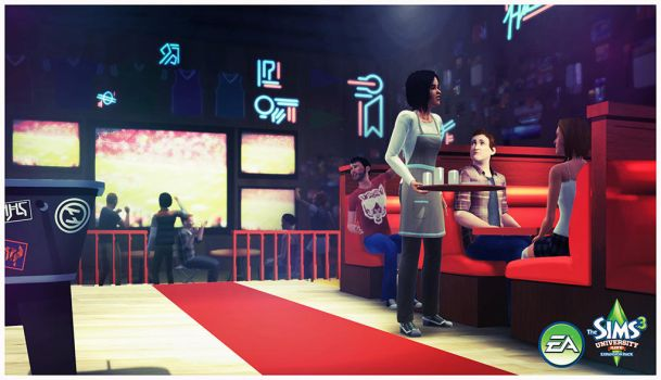 Sims 3: University Life- Sports Bar by TimothyAndersonArt