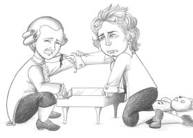 Mozart VS Beethoven by Zoeira