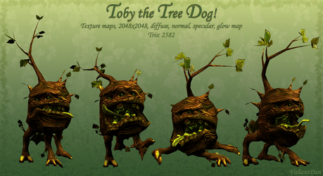 Toby the Tree Dog by ValiantDan