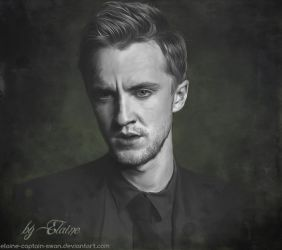 Tom Felton (digital portrait) by Elaine-captain-swan
