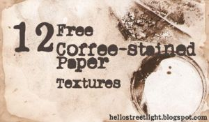 12 Coffee-Stained Paper Textures by tau-kast