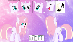 Moon Melody Ref Sheet by BlueRainiPony