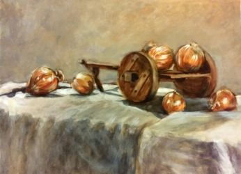 Onion Cart Still Life (2005) by LAN0RA