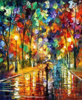 Pretty Night by Leonid Afremov by Leonidafremov