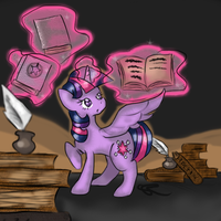 Old Books And Magic by ChiuuChiuu