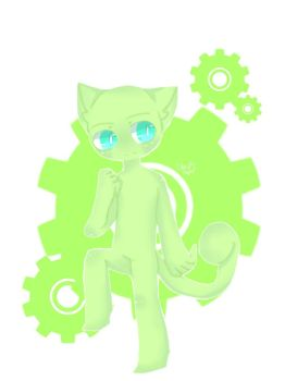 Green Neko by PastelArtz12