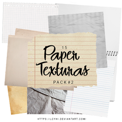 PACK #2 / PaperTexturas by LcyHi