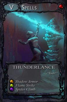 Card art: Thunderlance by BATTLEFAIRIES