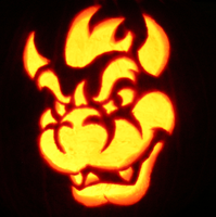 Lord Bowser on a mini-pumpkin. by johwee