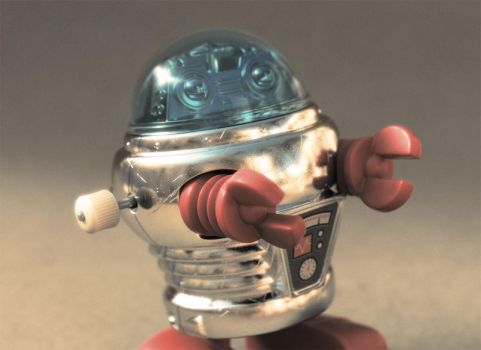 Wind-up Robot Toy by MutantPixelDigital