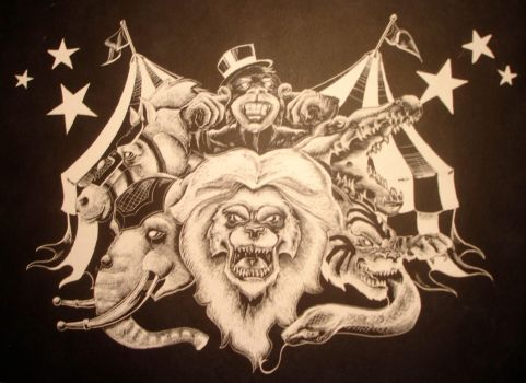 Circus Scratchboard by FordTruckKY87