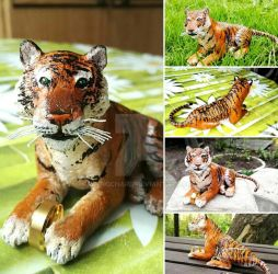Tiger sculpture by RetroCharo