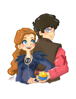 AU Sansa and Ramsay by VoxVulpina
