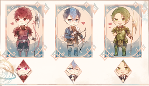 Fire Emblem: RGB Boys Charms by batensan