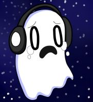 Napstablook In The Space by conishunfan