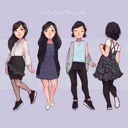 outfits of the week by xaiisu
