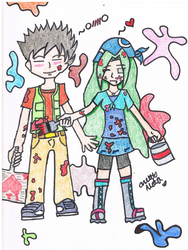 Kyoni and Brock .:For Contest: by sanjis-bride