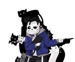 I said Meow - Sans the Meawster by KyiwtieArt