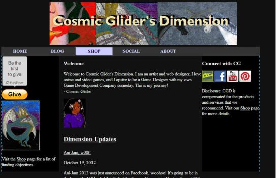 Cosmic Glider's Dimension ReLaunched by NovaStarr