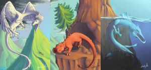 Triptyque dragons_[cours] [PLR] by Chlodzilla