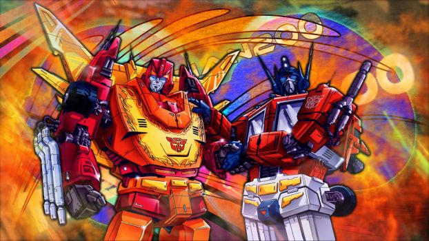 Transformers Corlorful with glodlight and TheJohan by thejohan200two